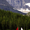 L6336 Swiftcurrent Lake with sailboats, Grinnell Glacier