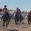 L6442 The gals race as well. Native American Pow Wow, North American Indian Days, Browning, Montana