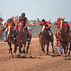 L6426 Indian Relay. 3 times around the track, 3 different horses, bareback