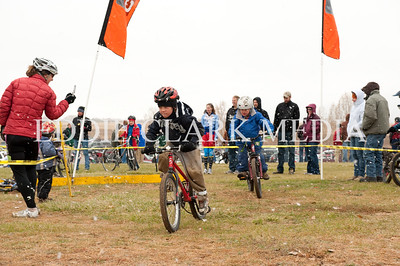 The kids got their own course, and a mini barrier to get an early start on cyclocross skills.