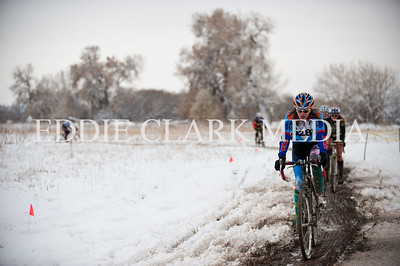 Laurel Rathbun's socks kept her warm and fashionable enough to win the Women's Cat4 race.