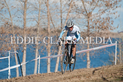 The cool blue waters of Boulder Res made for a pleasant backdrop, although it's doubtful 5th place pro lady Kelli Emmett noticed this.