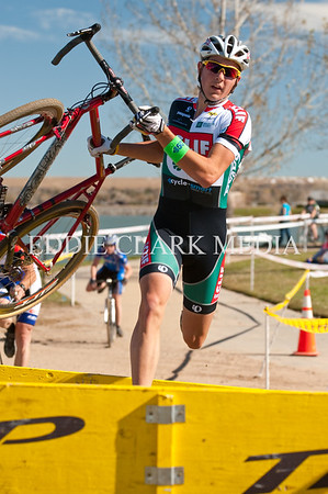 Wunder youth Yanick Eckmann chooses to run through the barriers.