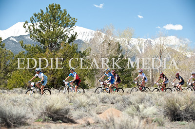 Kelli Emmett strings out the pro women after the start of their xc race.