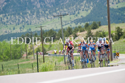 A careful selection got away in this chase group, which included the Omnium leaders jersey.