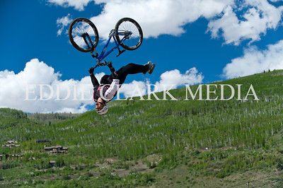 Not just any 'guy in the sky', Sam Dueck super-flips his Norco with amplitude and grace.