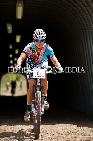 Amy Hermes took the womens singlespeed victory with a smile.