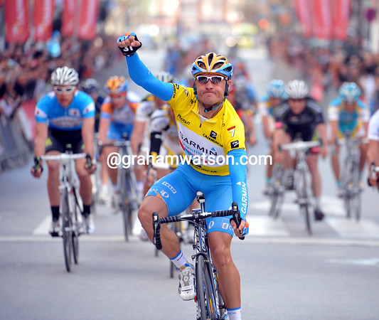 Robbie Hunter wins stage two - for him, at least, the result was never in doubt..!