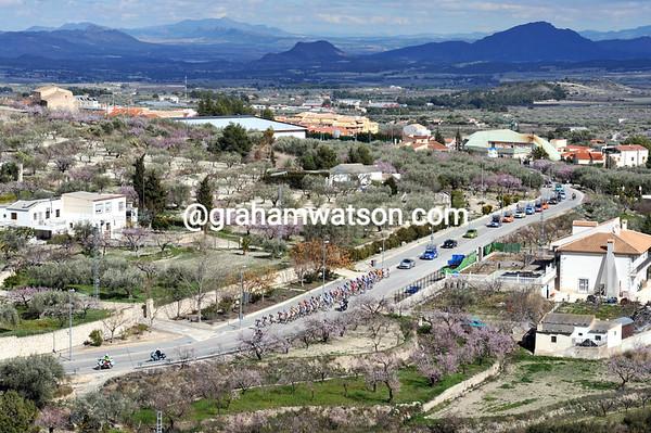 The unique landscape of Murcia is dwarfing the shrivelled peloton...