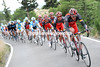Radio Shack swarms to the front, led by Gregory Rast...