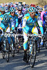Astana is near the front now, with Pereiro protecting Contador from any lurking dangers...