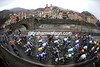 Campo Ligure gives its annual welcome to the peloton on the Pasos Turchino...