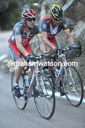 Armstrong drops off the pace, and has Popovych as a minder...