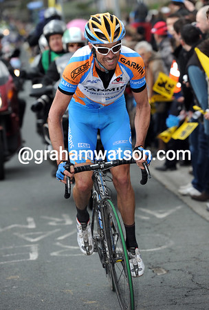 David Millar is in pursuit on the Berendries, about 45-seconds behind the two leaders...