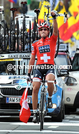 Fabian Cancellara wins the Tour of Flanders by a mile...