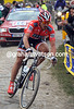 Cancelara has not waited for anyone - the Swiss cyclist is away and alone at Ennevelin...