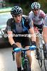 Sprinter Ben Swift has put his climbing legs on today - he's just behind Vande Velde's group...