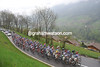 The peloton is in no rush to chase on the Pas de Morgins...