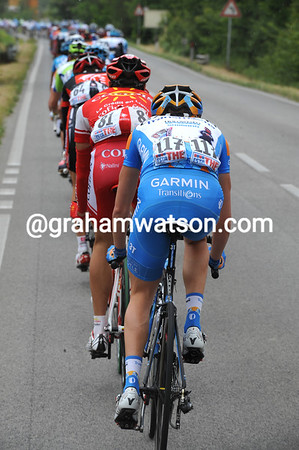 David Moncoutie has company at the back today, in the form of Daniel Martin - climbers are not built for such high speeds!