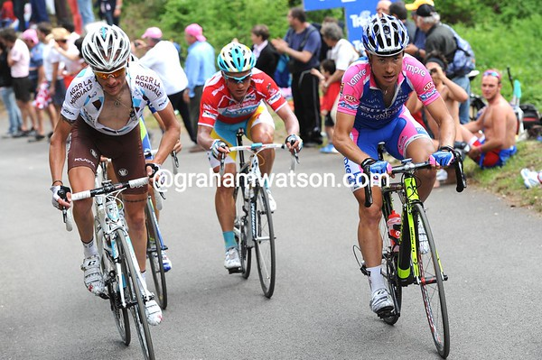 Damiano Cunego is in struggling company with John Gadret and Vinokourov...