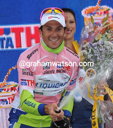 Ivan Basso is the new race-leader of the Giro d'Italia, and he'll take some beating with just two days to go..!