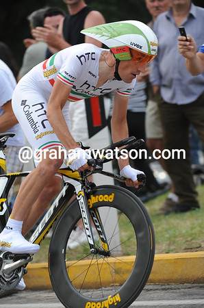 Marco Pinotti took 2nd place at just two-seconds - but he ends in a brilliant 9th overall...