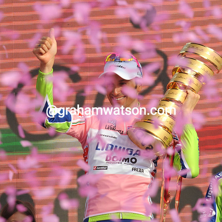 Ivan Basso celebrates his second Giro victory in Verona - the good times are back for the Italian..!