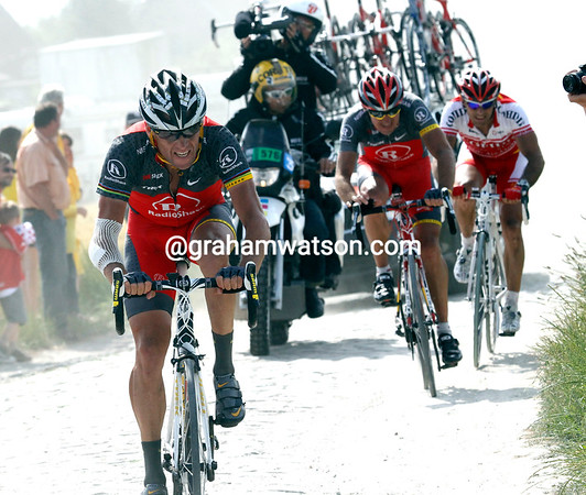Armstrong is fighting back ,but not enough to get him back to the Contador/Wiggins group...