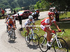 The escape is led up the Col de La Ramaz by Amael Moinard - it's getting hot out there..!