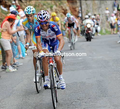 Joachin Rodriguez has attacked and taken Alberto Contador with him - Schleck cannot stay with them...