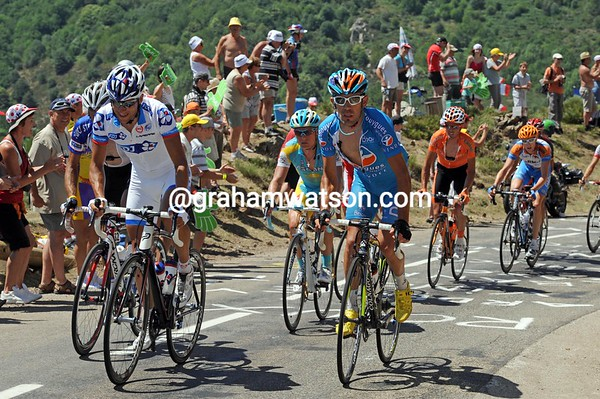Sandy Casar and Anthony Charteau must have stage-winning ambitions with today's uphill finish...