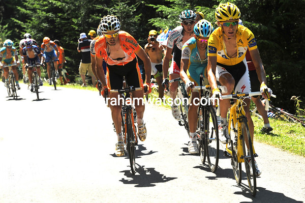 Schleck looks in great form - as his rivals can testify..!
