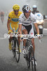 Schleck has attacked, taking Contador with him - Sammy Sanchez cannot keep pace...