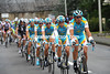 Astana is on display at the head of the peloton, led by Benjamin Noval...