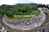 The peloton is still about 70-strong halfway up the Soulor...