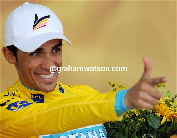 Alberto Contador is two days away from winning the Tour de France...