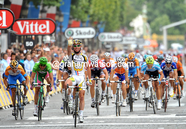 Yes, Mark Cavendish wins stage twenty into Paris - and by the biggest margin of them all..!