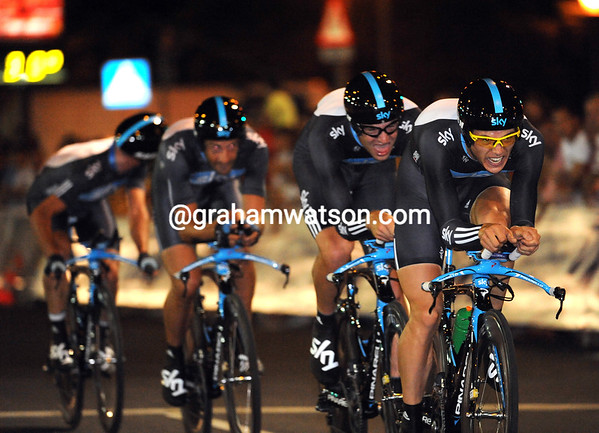 Team Sky looked good in Sevilla, but their smoothness belied their slowness in 14th place, 28-seconds down...