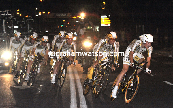 HTC-Columbia started early and held on to its fastest pace all night - they won!