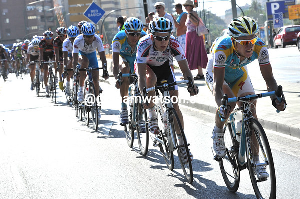Enrico Gasparotto is helping the chase for Astana and everyone else...
