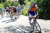 Denis Menchov is the next to attack - the peloton is spread all over Asturias..!