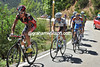 Sanchez sesm to be the strongest in the escape - only four riders can stay with him halfway uo the ascent...