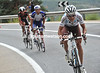Biel Kadri attacks Gusev and Lopez as the big escape breaks up on the second ascent of Navacerrada...