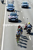 Five escapers lead the race on to Prince's Highway - they are gaining big time in no time...