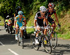 Sastre and Vinokourov are with Sanchez as the race climbs the Arkale for the second time, with 20-kilometres to go...