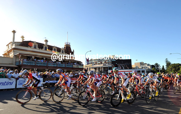 The race starts in Adelaide with typically hot and sunny conditions...