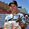 For a meat-eating Australian, Richie Porte is showing an extraordinary interest in a young Kangaroo in Unley...