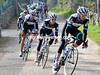 After just 25-kilometres, Garmin has taken over the chasing with David Millar on the front...