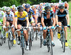 The race settles down on a 2nd-category ascent with Team Sky re-charging their engines after a lot of chasing...