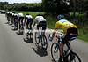 Bradley Wiggins is being paced towards his destiny by Team Sky, it looks easy so far today..!
